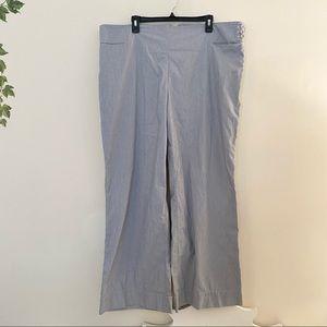 J Jill Striped Seersucker Wide Leg Pants